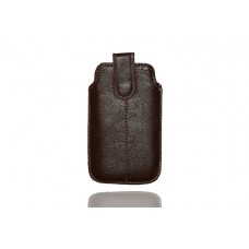 Universal Dark Brown Soft Case Slip in and Pull