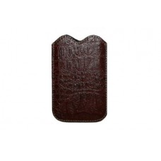 Crocodile Pattern Case Small Brown