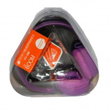 Music Headphones with mic 3.5mm Purple