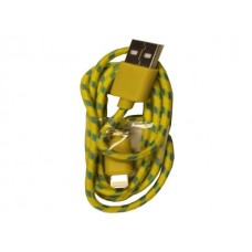 iPhone 5 Yellow Braided Usb Cable