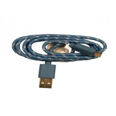 iPhone 5 Blue Braided Usb Cable