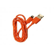iPhone 5 Orange Braided Usb Cable