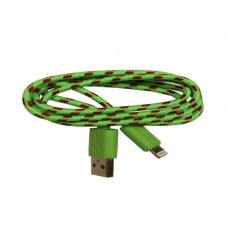 iPhone 5 Green Braided Usb Cable