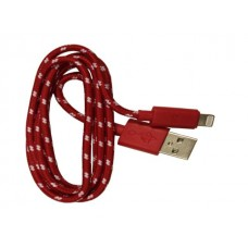 iPhone 5 Red Braided Usb Cable