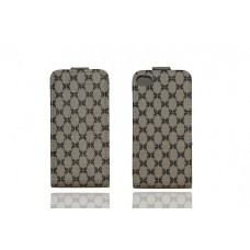 IPhone 4 4s Flip Pouch Cream Pattern Design Case