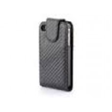 IPhone 4G 4S Carbon Design Black Flip Pouch Case