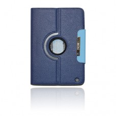 ipad mini 360 turn case blue with magenetic flap