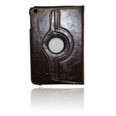 ipad mini Dark Brown Leather woa design case
