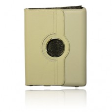 IPad White Stand Case with Silver Rotator