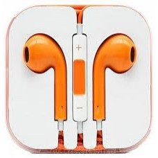 Orange iPhone Earpods Handsfree