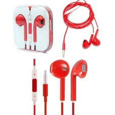 Red iPhone Earpods Handsfree