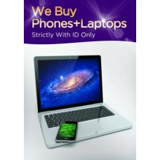 We Buy Phones + Laptops Poster