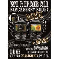 We Repair Blackberry Poster Laminated 17 x 23 New Design