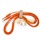 New Flat Strong iPhone 5 5S 5C Usb Cable Orange