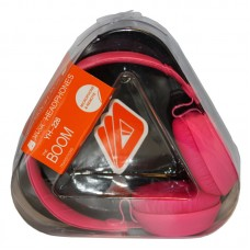 Music Headphones with mic 3.5mm Pink