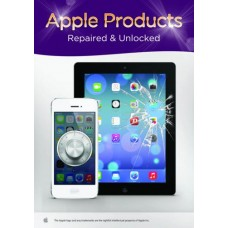 Apple Products Repaird & Unlocked Here Poster