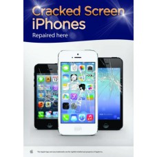 Cracked Screen IPhones Repaired Here Poster