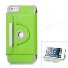 iphone 5 360 turn stand case green