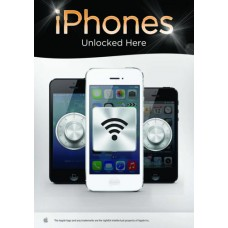 iPhones Unlocked Here Poster