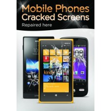 Mobile Phones Cracked Screens Poster